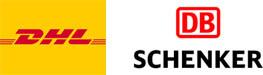 DHL und Schenker Spedition Logo