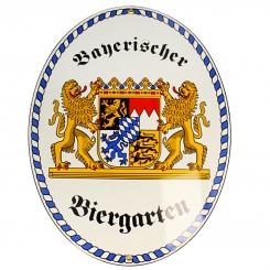 Biergarten Schild Freistaat Bayern