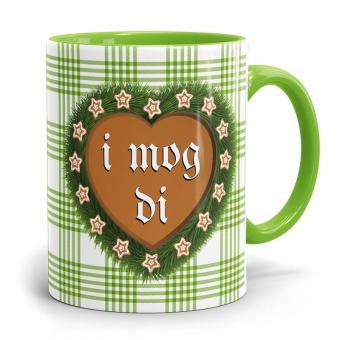 Bayerische Kaffeetasse I Mog Di in grün