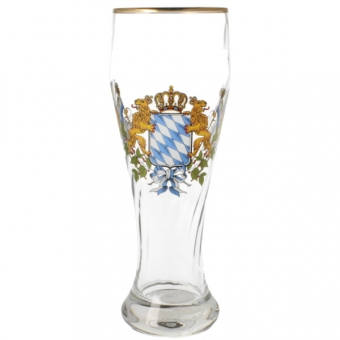 Weizenglas Bayern mit Raute 0,5 Liter