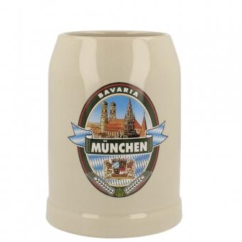 Bierkrug München 0,5 Brauerei Emblem