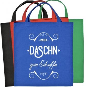 "Baumwolltasche ""Mei Daschn"" versch. Farben"