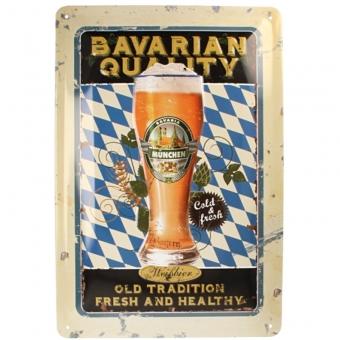 Bayern Schild 20 x 30 cm Fresh and Healthy