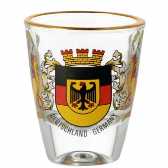 Schnapsglas Deutschland Fahnen
