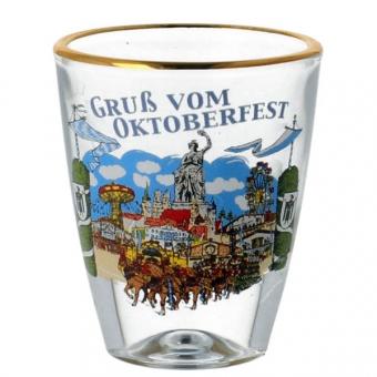 Schnapsglas Gruß vom Oktoberfest