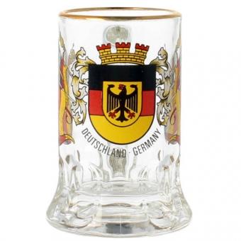 Mini Glaskrug Deutschland Fahnen