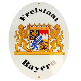 Original Freistaat Bayern Schild in 2 Größen erhältlich Groß (28.5 x 37.5)
