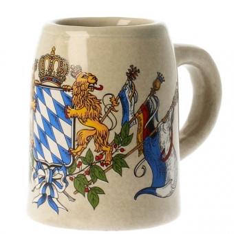 Mini Steinkrug Wappen Raute mit Fahne