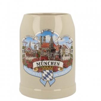 Steinkrug München 3er Motiv 0,5