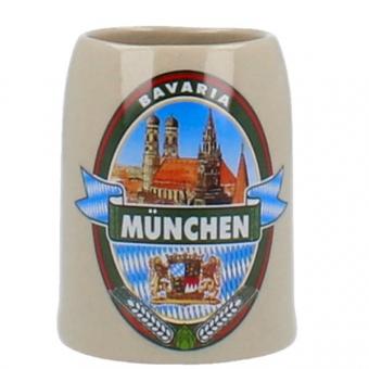 Mini Steinkrug München Brauerei Emblem