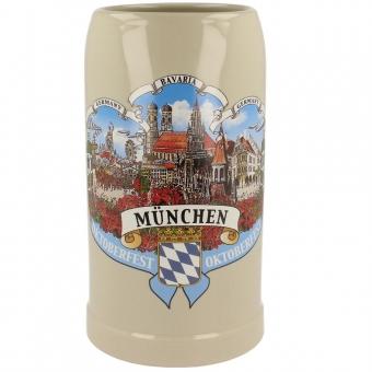 Maßkrug München 1 Liter 3er Motiv